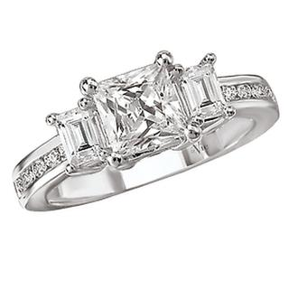 3-Stone Look RD DIA Semi-Mount D5/8CT