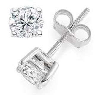 Diamond Stud Earrings (2.00 ctw) 14kt White Gold