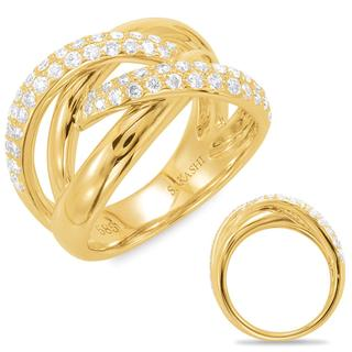 Yellow Gold Diamond Women's Fashion Ring