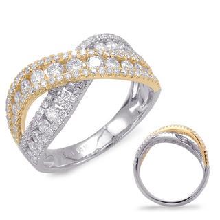 White & Yellow Gold Fashion Ring