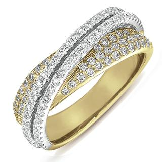 Yellow & White Gold Fashion Diamond Ring