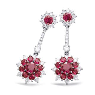 Ruby & Diamond Earring