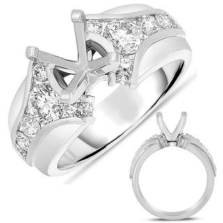 White Gold Engagement Ring (0.94 ctw)