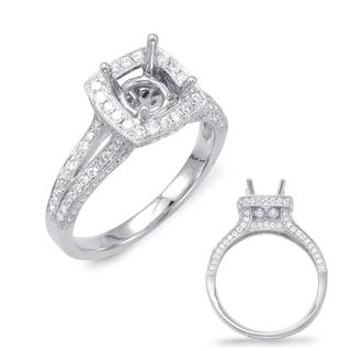 White Gold Halo Engagement Ring (0.75 cts.)