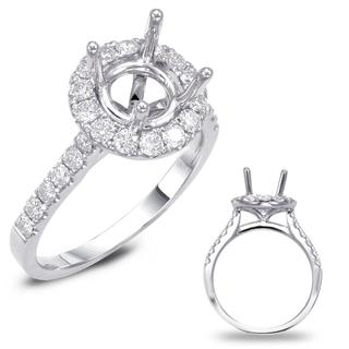 White Gold Halo Engagement Ring (0.68 cts.)
