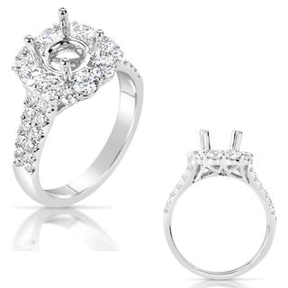 White Gold Halo Engagement Ring (1.42 cts.)
