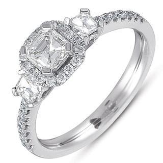 White Gold Three Stone Ring (1.06 cts.)