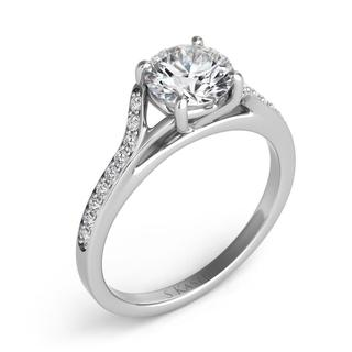 White Gold Pave Engagement Ring (0.18 cts.)