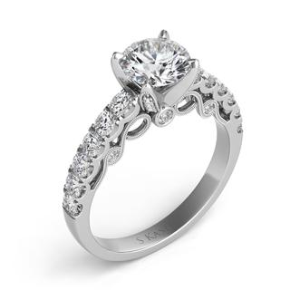 White Gold Engagement Ring (0.72 ctw)