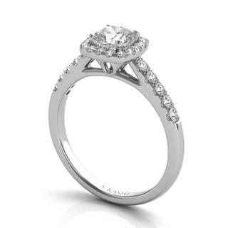 White Gold Halo Ring (0.35 cts.)