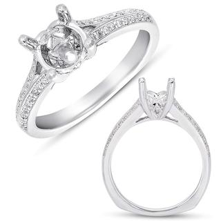 White Gold Pave Engagement Ring (0.17 cts.)