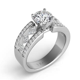 White Gold Engagement Ring (0.96 ctw)