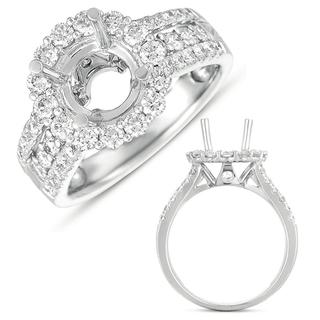 White Gold Halo Engagement Ring (1.17 cts.)