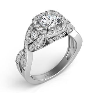 White Gold Engagement Ring (0.66 cts.)