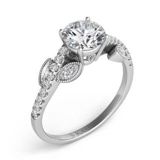 White Gold Engagement Ring (0.33 cts.)
