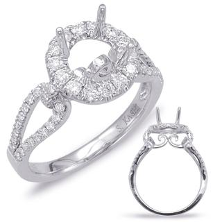 White Gold Engagement Ring (0.55 ctw)