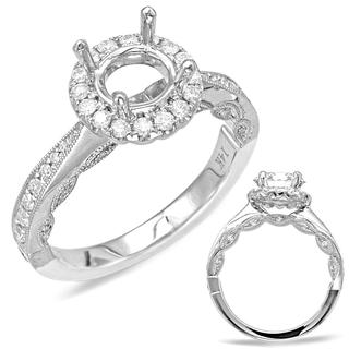 White Gold Halo Engagement Ring (0.42 cts.)