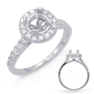 White Gold Halo Engagement Ring (0.56 cts.)