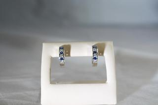 Blue Diamond Hoops