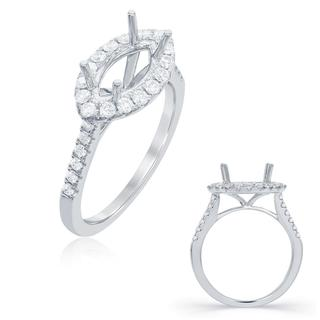 White Gold Halo Engagement Ring (0.45 cts.)