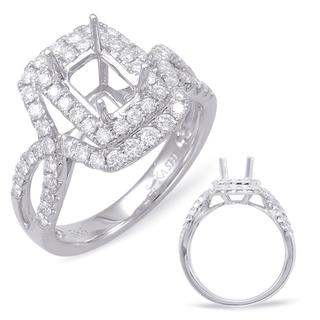 White Gold Halo Engagement Ring (0.70 cts.)