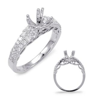 White Gold Engagement Ring (0.54 cts.)