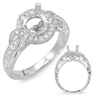 White Gold Halo Engagement Ring (0.38 cts.)