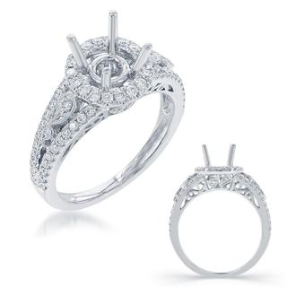 White Gold Halo Engagement Ring (0.49 cts.)