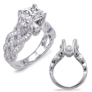 White Gold Engagement Ring (0.60 cts.)