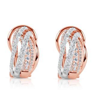Rose & White Gold Diamond Earring