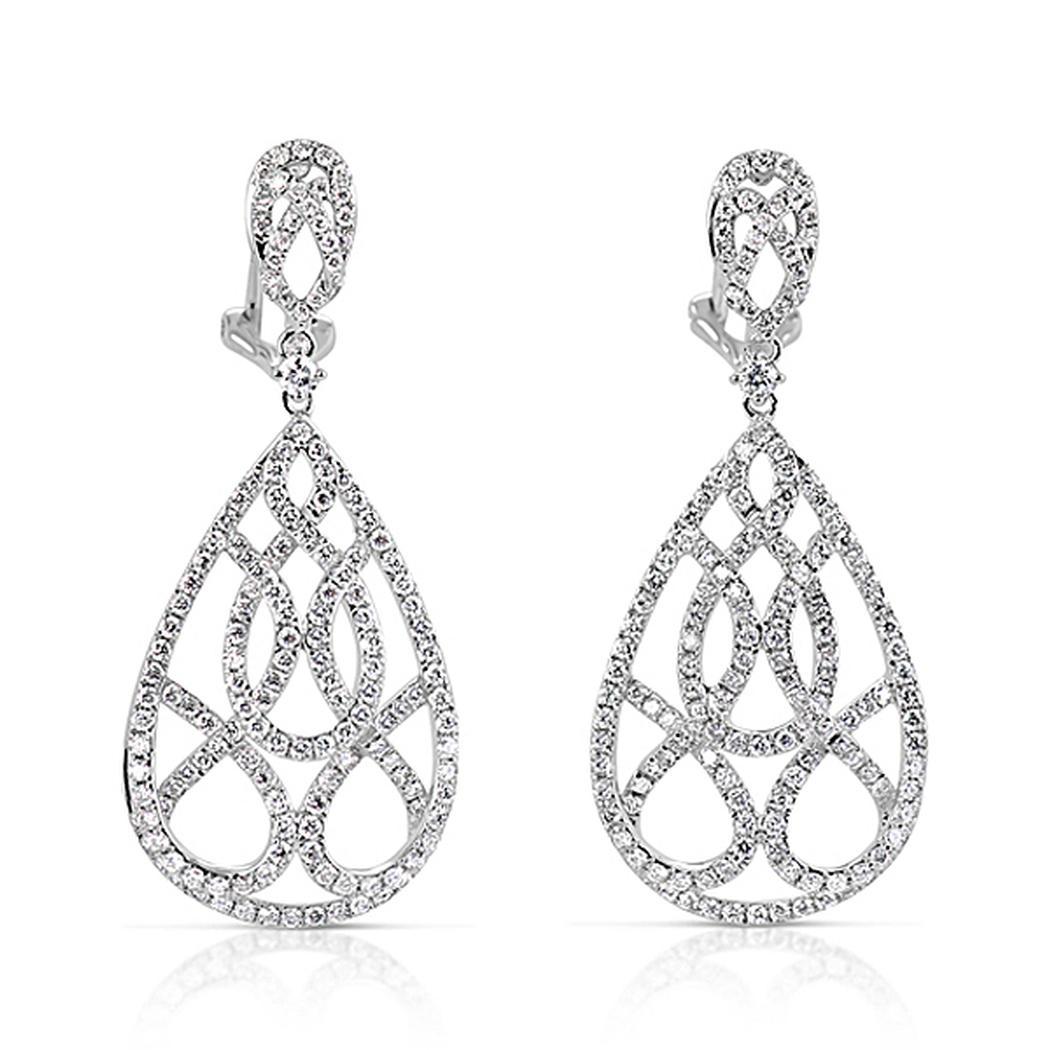 white gold diamond earring Diamond Jewerly