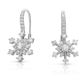 White Gold Snowflake Earring