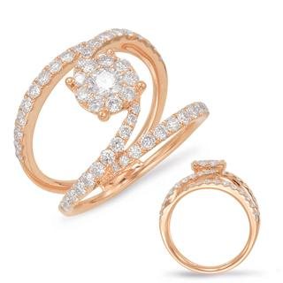 Rose Gold Diamond Women's Fashion Ring