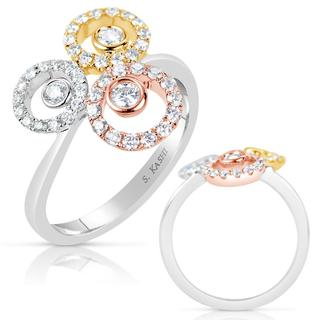 Rose & Yellow & White Fashion Ring