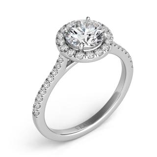White Gold Halo Engagement Ring (0.30 cts.)