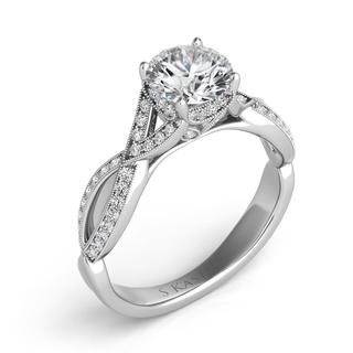 White Gold Engagement Ring (0.25 ctw)