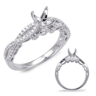 White Gold Engagement Ring (0.47 ctw)