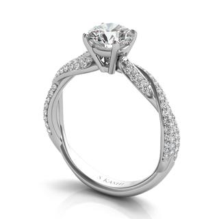 White Gold Engagemnt Ring (0.40 cts.)