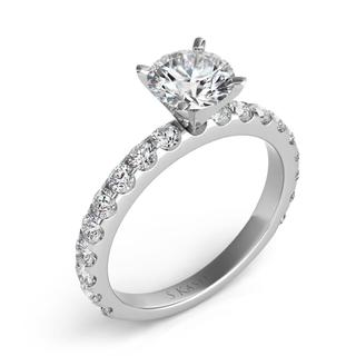 White Gold Engagement Ring (0.81 cts.)