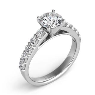 White Gold Engagement Ring (0.72 cts)