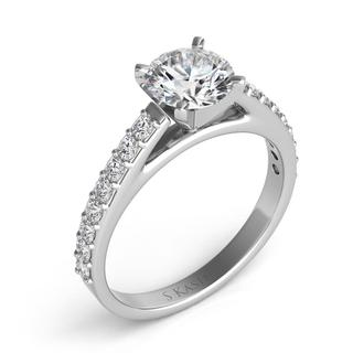 White Gold Engagement Ring (0.37 cts)
