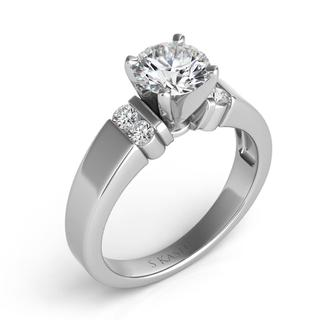 White Gold Engagement Ring (0.18 ctw)