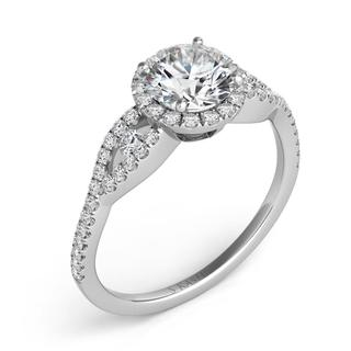 White Gold Halo Engagement Ring (0.39 cts.)