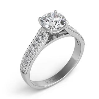 White Gold Engagement Ring (0.43 ctw)