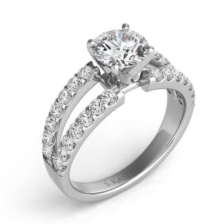 White Gold Engagement Ring (0.73 cts.)