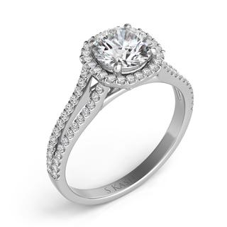 White Gold Engagement Ring (0.27 cts.)