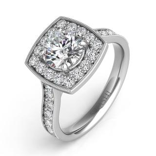 White Gold Engagement Ring (0.72 cts.)
