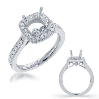 White Gold Halo Engagement Ring (0.46 cts.)