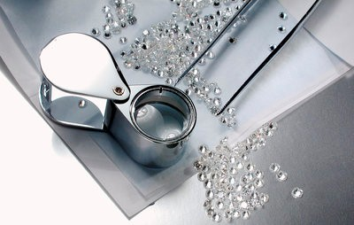 View our quality diamonds through a loupe
