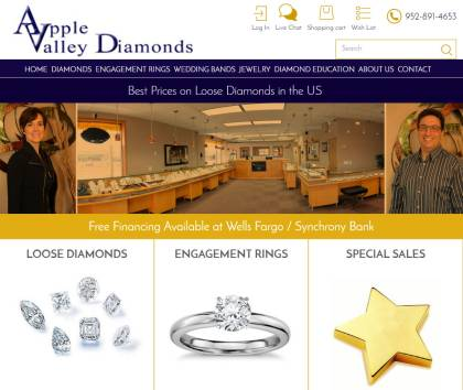 New website for loose diamonds and diamond engagement rings launched